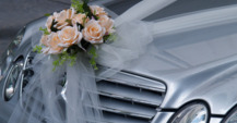 Our S-Class Mercedes during wedding in Marbella