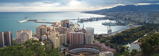 View of Malaga city from its Moorish castle
