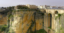 Spectacular views of Ronda located in Malaga province